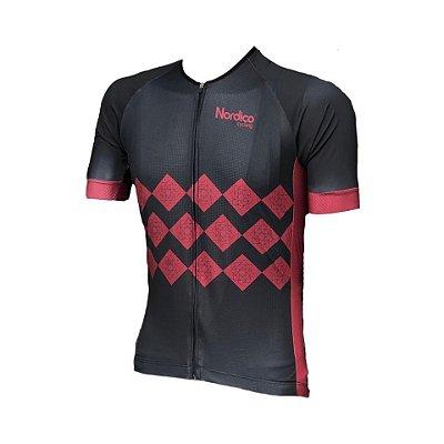 camisa ciclismo nordico velocity com faixa refletiva ref 1164