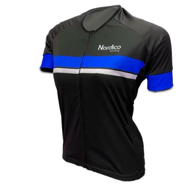 camisa ciclismo feminino nordico go go azul ref 1063