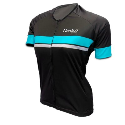 camisa ciclismo feminino nordico go go ref 1093 aqua