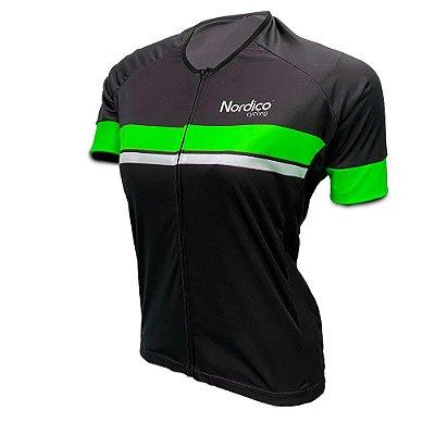 camisa ciclismo feminino nordico go go ref 1008 verde