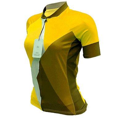 camisa ciclismo feminino nordico yellowTHINg REF 216