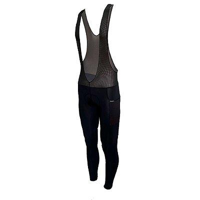 bretelle calça ciclismo nordico allblack com bolso ref 58