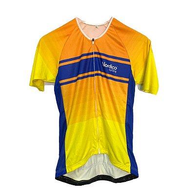 camisa ciclismo nordico solemar master com faixa refletiva