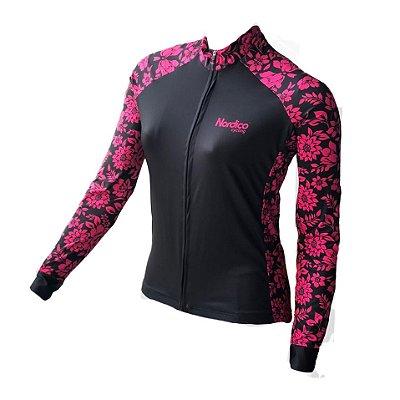camisa ciclismo feminino manga longa nordico sensation ref 1171