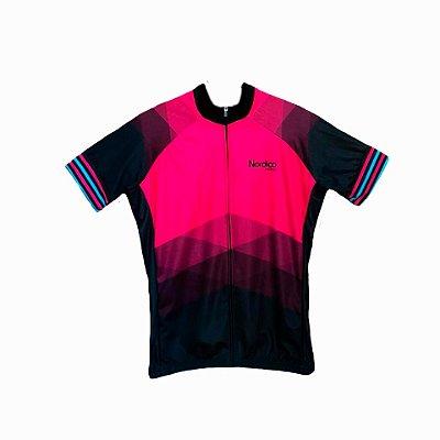 camisa ciclismo FEMININO nordico ROSADO MARINE plus size ref 1234