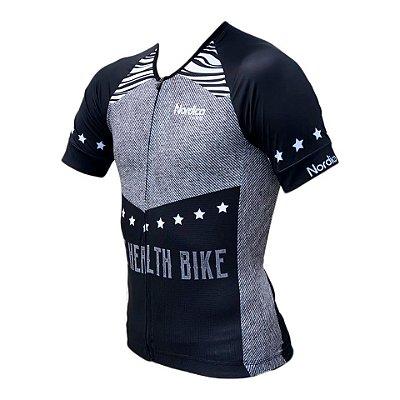 camisa ciclismo nordico life health bike master ref 1206