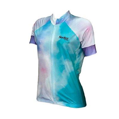camisa ciclismo feminino nordico tie dye overcome ref 1187