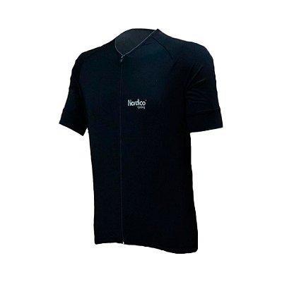 camisa ciclismo nordico black master com faixa refletiva ref 439