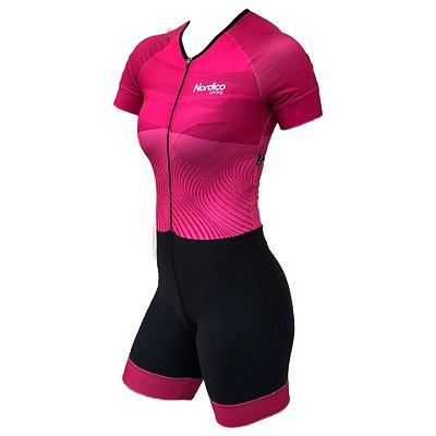 macaquinho ciclismo feminino nordico rose ref 1076