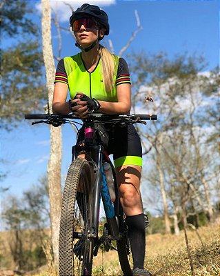 macaquinho ciclismo feminino verde marine ref 1013 m9