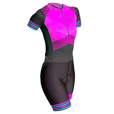 macaquinho ciclismo feminino rosado marine ref 1041