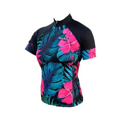 camisa ciclismo FEMININO leef ref 1062