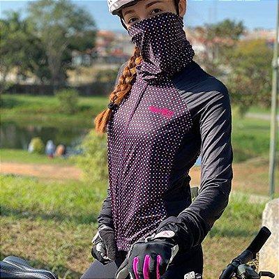 camisa ciclismo feminino manga longa HILL ref1114