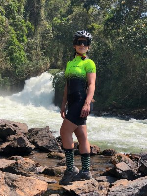 macaquinho ciclismo feminino setaverde ref 1141
