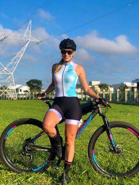 macaquinho ciclismo feminino tie dye sem manga ref 331