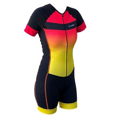 macaquinho ciclismo feminino sunset recorte lateral ref 1275