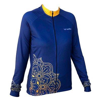 camisa ciclismo feminino manga longa amândala 1279