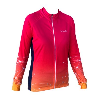 camisa ciclismo feminino manga longa web 1281