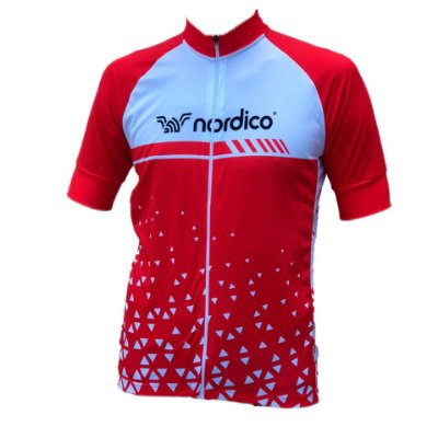 Camisa ciclismo nordico Force Red ref 1305