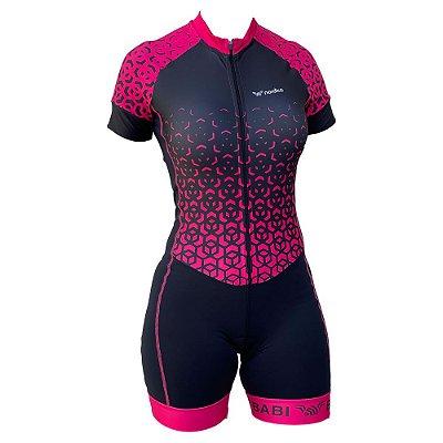 macaquinho ciclismo feminino nitro nome personalizado ref 1320