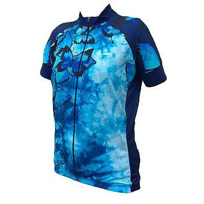 Camisa ciclismo feminino nordico butterfly ref 1324