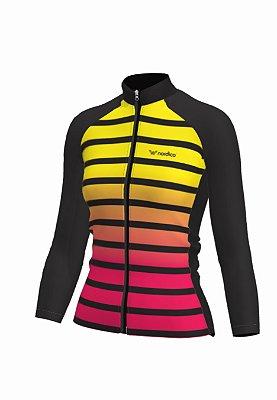 Camisa ciclismo feminino manga longa nordico ketlin ref 222d