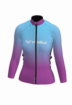 Camisa ciclismo feminino manga longa merged ref 1314d