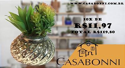 Vaso decorativo com suculentas