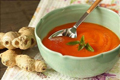Creme de cenoura com gengibre
