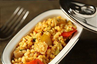 Paella Vegetariana com Legumes e Cogumelos