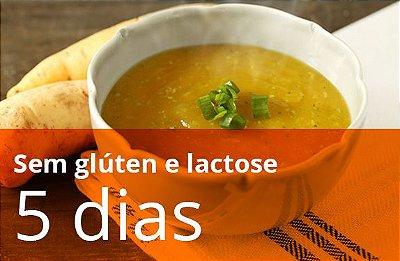 Kit Dissociado 5 dias sem glúten e lactose