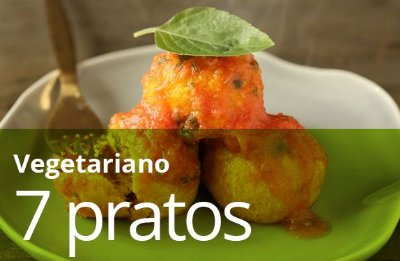 Kit 7 Pratos Vegetariano