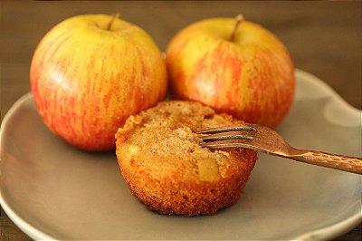 Bolinho integral de maçã com passas (sem leite, sem glúten)