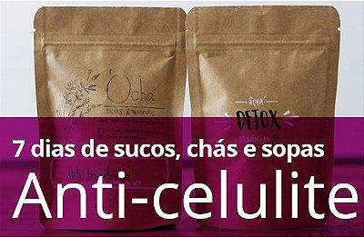 Kit Anti-Celulite ( Sucos, chás e sopas) - 7 DIAS