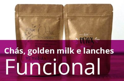 Kit Funcional - chás, golden milk e lanches