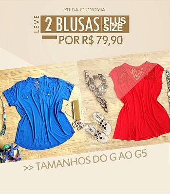 Promoção Kit com 2 Blusas