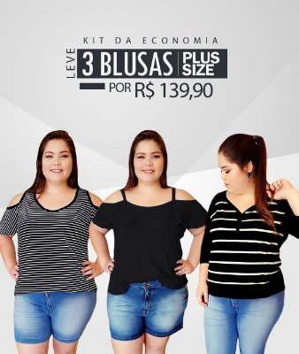 Promoção Leve 3 Blusas (Economize R$ 40,00)
