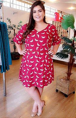 Vestido Estampa Garça Plus Size