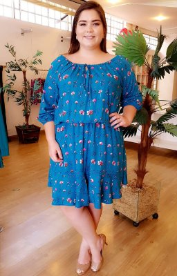 Vestido Maxxi Fashion Plus Size