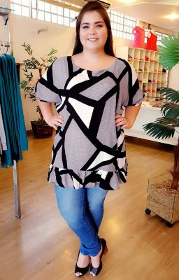 Blusa Long Sweet Plus Size