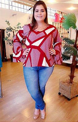 Blusa Geométrica de Viscose