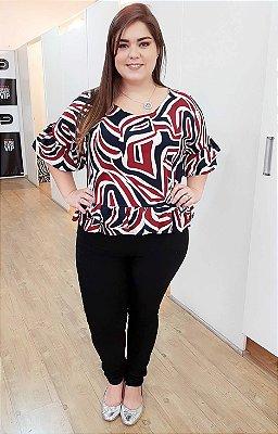 Blusa Megan Geométrica Plus Size