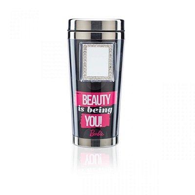 Copo Térmico com Espelho - Barbie Beauty