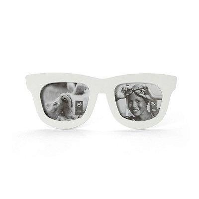 Porta Retrato Duplo - Óculos Branco