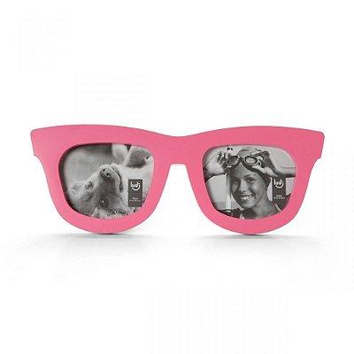 Porta Retrato Duplo - Óculos Rosa