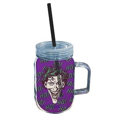 Copo Jarra Acrílico Joker Face Colorido