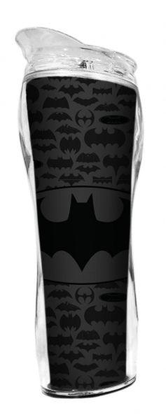 Copo Térmico Plastico Logo Batman Preto