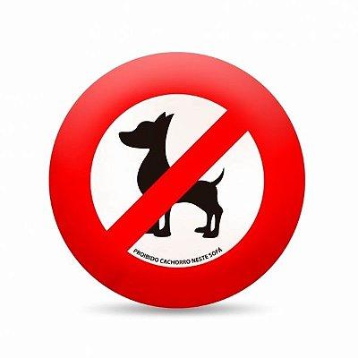 Almofada Placa Proibido Cachorro Neste Sofá