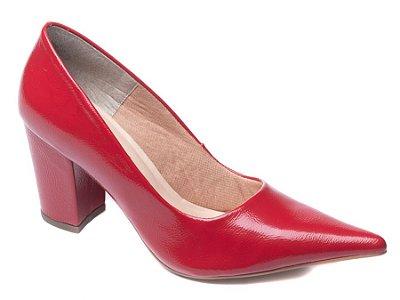 Sapato Scarpin Verniz Vermelho