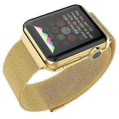 Pulseira de Aço Loop Milanês Apple Watch 38mm